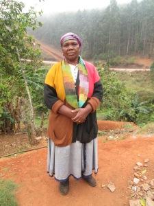 Mrs. Dlamini sporting her new infinity scarf.