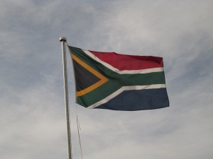 The temporary banner that became the pride of South Africa.