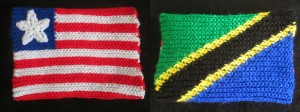 Proudly stitching the colors of Liberia and Tanzania.
